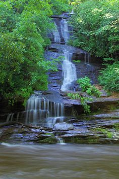 Tom Branch Falls . . . There is two other waterfalls on this trail. Easy to hike and can wade in the water, or go tubing.