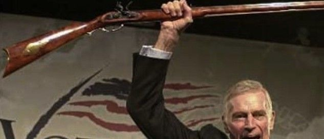 Former NRA president Charlton Heston to get US Post Office stamp