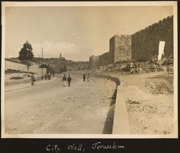King's Collections : The Serving Soldier : chinavol1-pic072 A photograph entitled 'City Wall Jerusalem' taken en route during the journey of Bernard Francis Castle Floud (1915 - 1967) to China in 1938 as part of a League of Nations student delegation. City Wall Jerusalem.