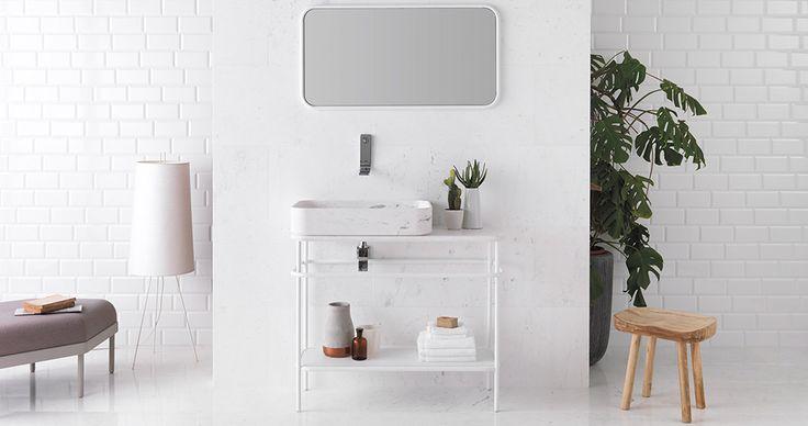 ↬ Vintage by Yonoh | La colección de #baño inspirada en los antiguos #lavabos de porcelana #baños #diseñodebaños #interiorismo