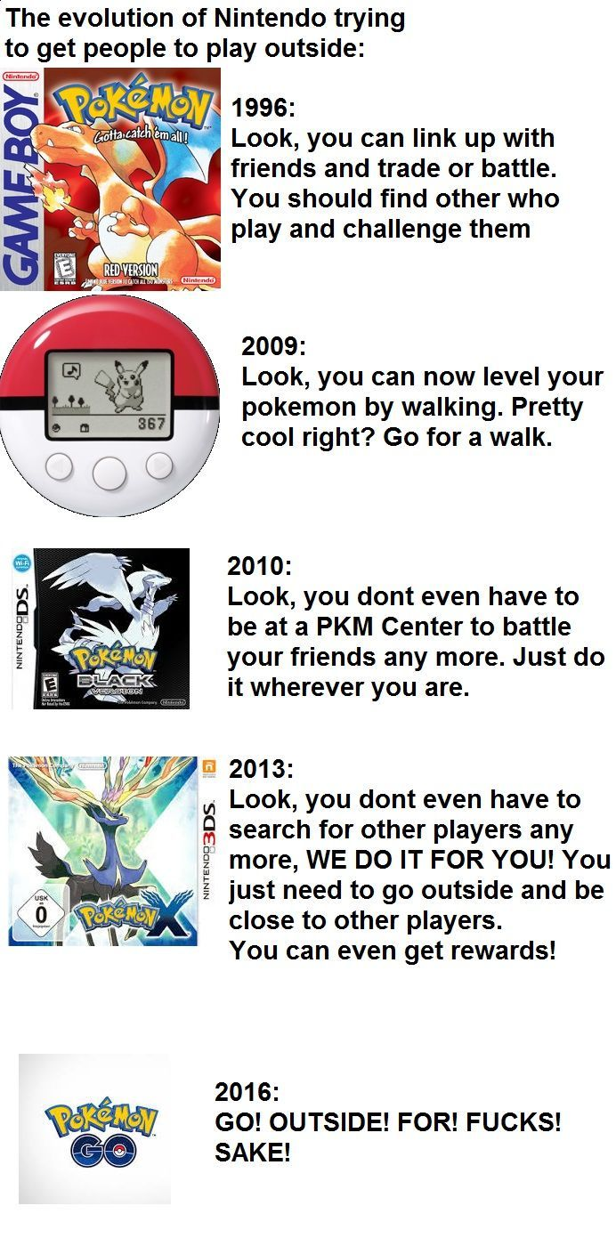 "pokemon-gogogo: ""  Good Guy Nintendo. Trying to get people outside since 1996  funny pictures memes"