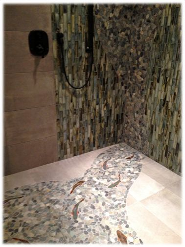 decorative ceramic tile trout hand made trout shower tiles for custom ceramic tile floors and