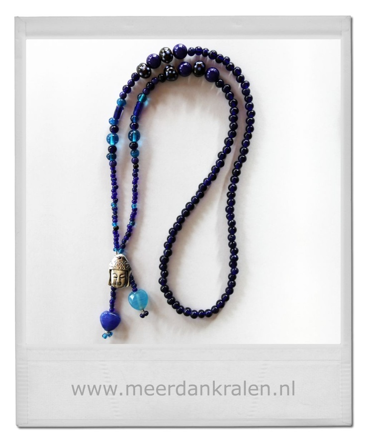Nieuwe inspiratie! Boeddha love ketting, donkerblauw. Buddha sieraden