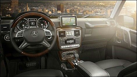 Mercedes G Wagon interior