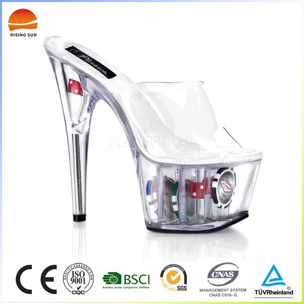 Fashion high quality clear platform transparent heel glass high heel shoes  FOB Price: US $ 5.5 - 9.5 / Pair | Get Latest Price Min.Order Quantity: 500 Pair/Pairs Ladies high heel shoes Supply Ability: 100000 Pair/Pairs per Month Ladies high heel shoes