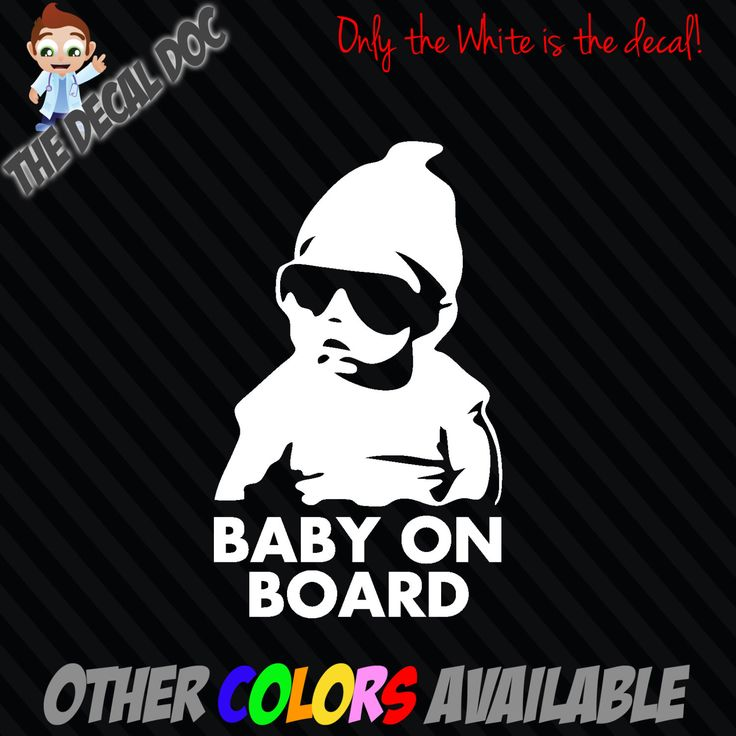 "Bought one for my husbands truck and also my suv! BABY ON BOARD Carlos Hangover Die Cut Vinyl Decal Sticker Car 6"" Funny Sign The by TheDecalDoc on Etsy https://www.etsy.com/transaction/1057480173"