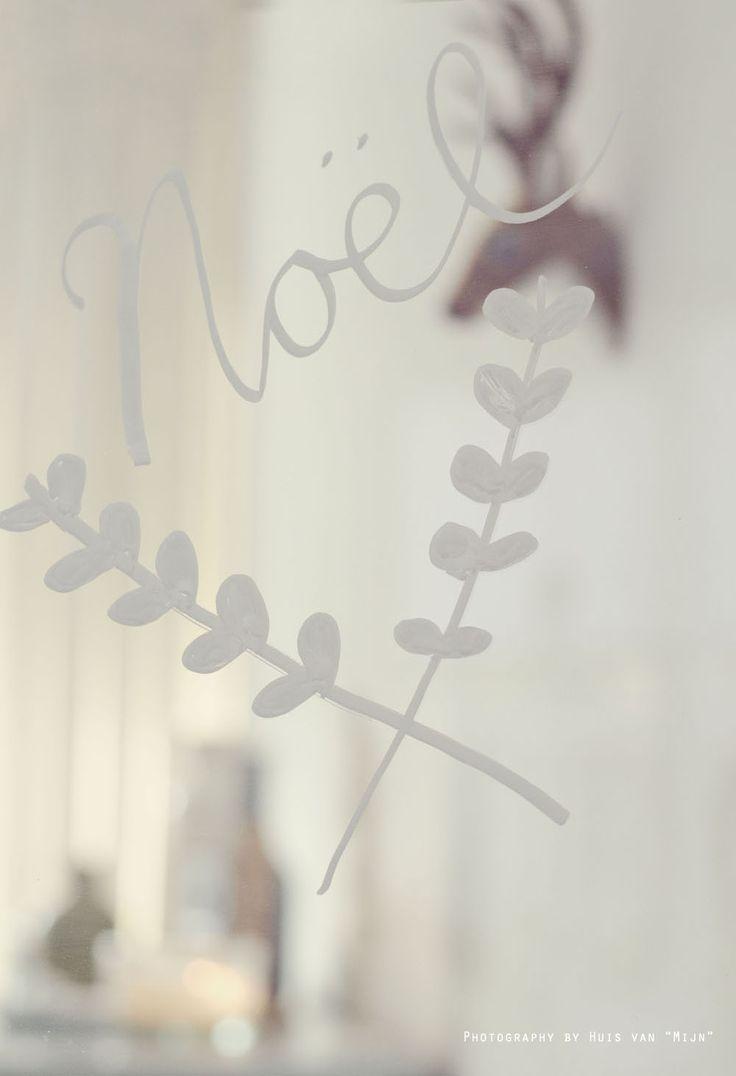 """Tekst, krijtbordstift, raamtekening, christmas, noel. made by Huis van """"Mijn"""""""