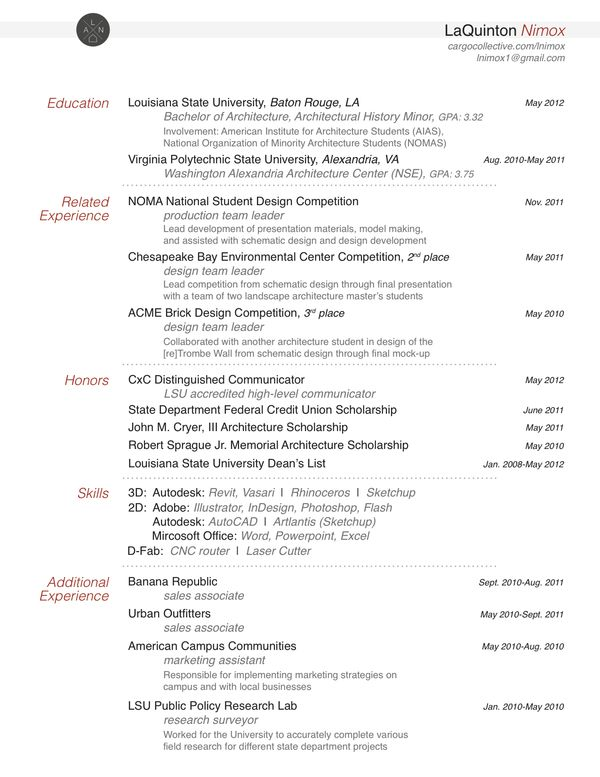 16 Best Cv Images On Pinterest | Resume Cv, Architect Resume And