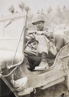 """BILL MAULDIN  was transferred in February 1944 to work for """"Stars and Stripes.""""  He was given his own jeep to travel around the frontlines collecting new material.  Patton once summoned for Bill after a cartoon made light of Patton's demand that all soldiers be clean-shaven.  Patton threatened to throw him in jail for """"spreading dissent.""""  Eisenhower saw the cartoons as an important outlet for the frustrations of soldiers, and told Patton to leave him alone and let him do his job. . . ."""