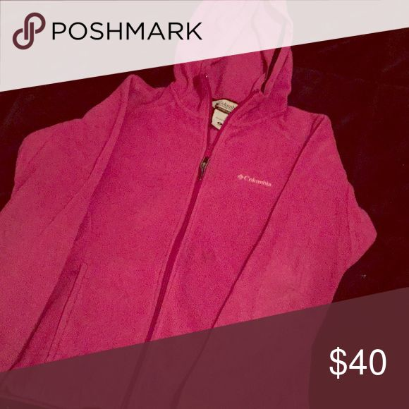 Columbia zip up jacket Pink women's zip up jacket Columbia Jackets & Coats