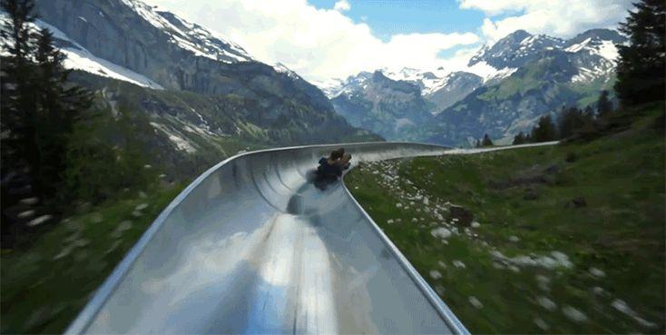 なんという爽快さ! スイスの大自然に囲まれた、超巨大滑り台 : ギズモード・ジャパン