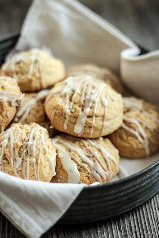 Vanille Cookies mit Zimtglasur