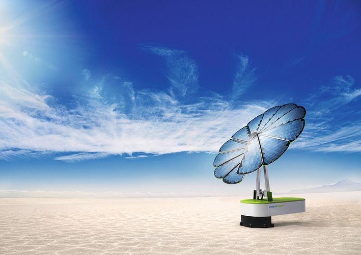 La Smartflower™ : Planter des panneaux solaires