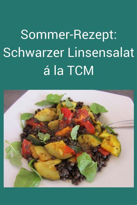Schwarze Linsen sind gesund - und köstlich in diesem Sommersalat. Einfach ausprobieren! #Rezept #Salat