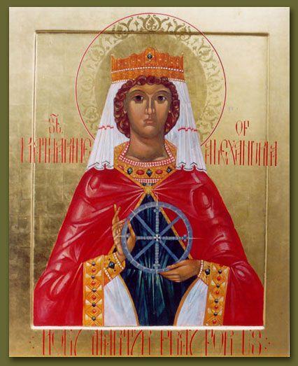 St. Katherine (Catherine) of Alexandria by Susan Kelly vonMedicus