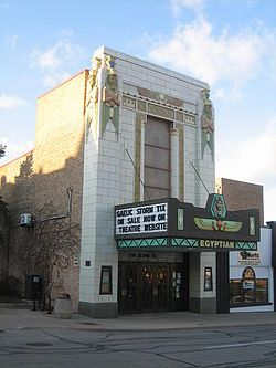The Egyptian Theatre in DeKalb, Illinois, United States, is an Egyptian Revival theatre that is listed on the U.S. National Register of Historic Places. The theatre was built in 1928 and 1929