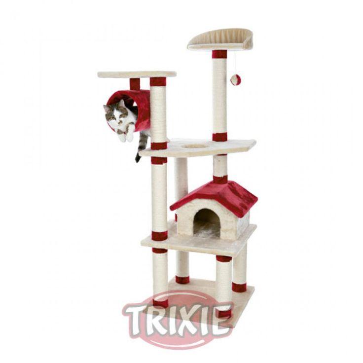 Rascador Para Gatos Arbol Marissa Beige Y Rojo Trixie  - Rascadores para Gatos - FeelCats