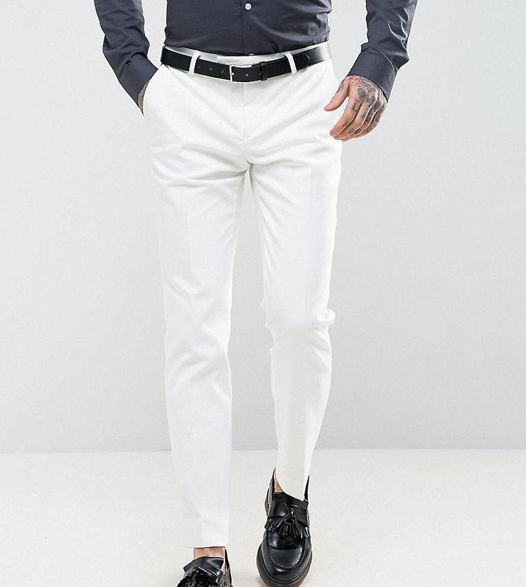 Noose & Monkey Super Skinny Suit Pants - White