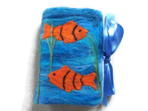 Sewing Needle Book/Case  Aquarium. Sewing by UniquelyYourDesigns, £12.50