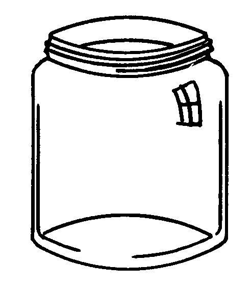 Empty Jar Coloring Page