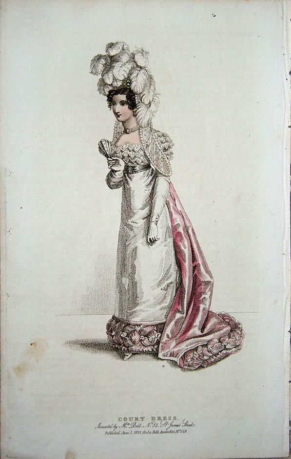 1821 court dress