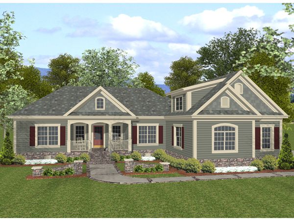 Bogart Shingle Style Ranch Home House Plans Home And