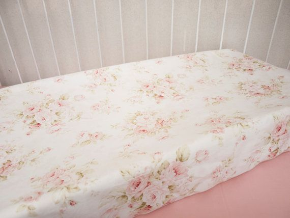 Mary Rose Vintage Shabby Chic Roses Floral Pink by HandmadeBySasha