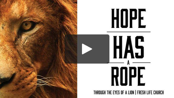 Fresh Life Church | Hope has a Rope. Oct. 1