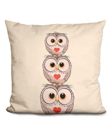 Loving this Little Pitti Three Owls Throw Pillow on #zulily! #zulilyfinds