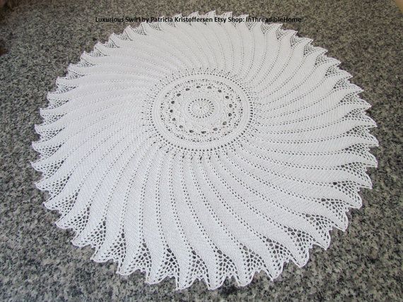 Luxurious Swirl Crochet Table Topper .pdf от InThreadibleHome