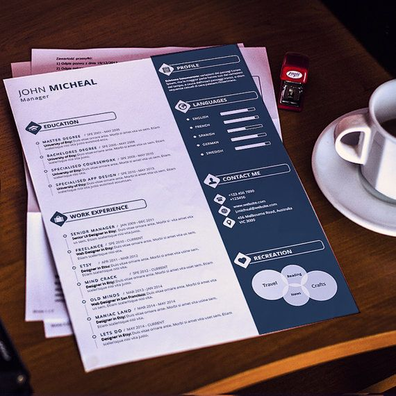 Resume Template CV with Cover Letter and by LinkPersonality