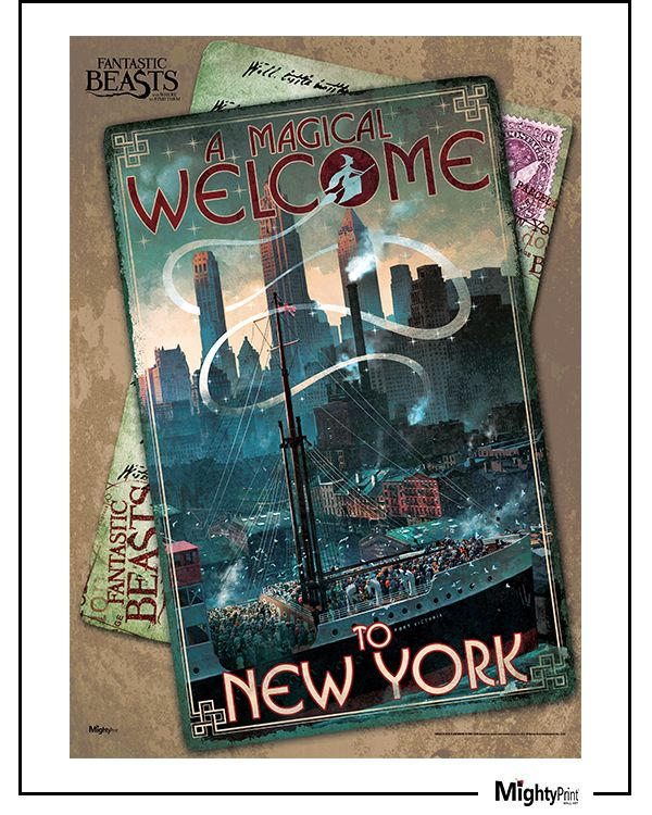 From Fantastic Beasts and Where To Find Them™: J.K. Rowling and her wizarding world offer you a magical welcome to New York City, the setting of the new movie Fantastic Beasts and Where to Find Them. This state-of-the-art, light diffusing print is fade, and tear resistant - and as sturdy as Scamander's luggage!