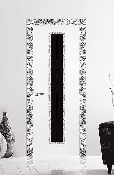 Межкомнатная дверь «Модерн». Отделка «белая эмаль высокий глянец» #дверирулес…