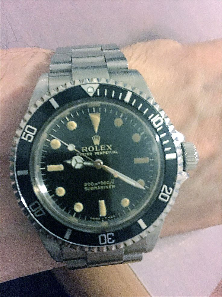 Rolex Submariner Vintage no date, 5513, rare 1966, Bracelet original 7206, Cal 1520, Only one owner, Difficult to find in good shape