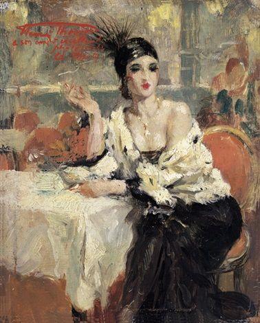Au restaurant Lattente by Henri Joseph Thomas