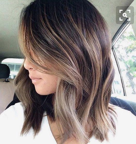 Dark brunette balayage medium length for How to find a medium