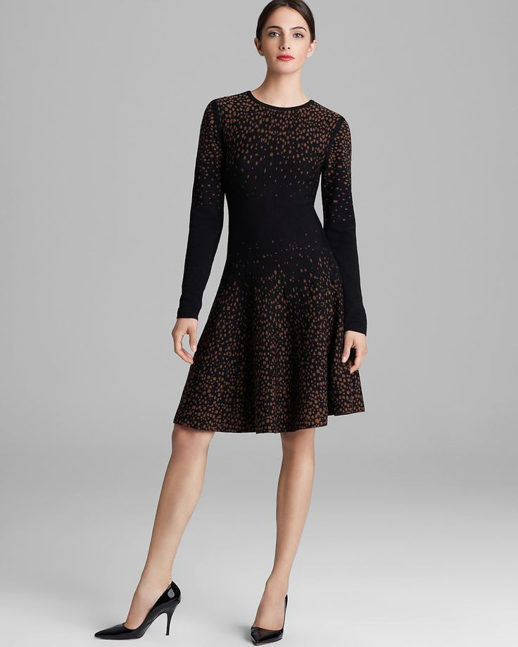 Rachel Roy Dotted Merino Sweater Dress | Bloomingdale's