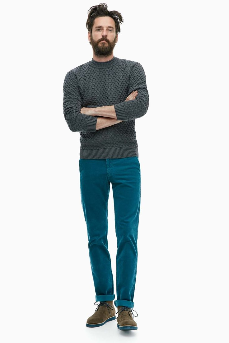 Corduroy Stretch Trousers - pre-fall | Adolfo Dominguez shop online