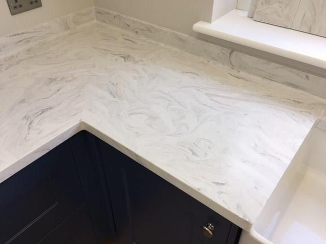 Image Result For Limestone Prima Corian Corian Kitchen
