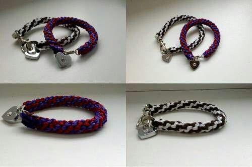 Bransoletki wyplecione ze sznurka do sutaszu #jewelry #handmade
