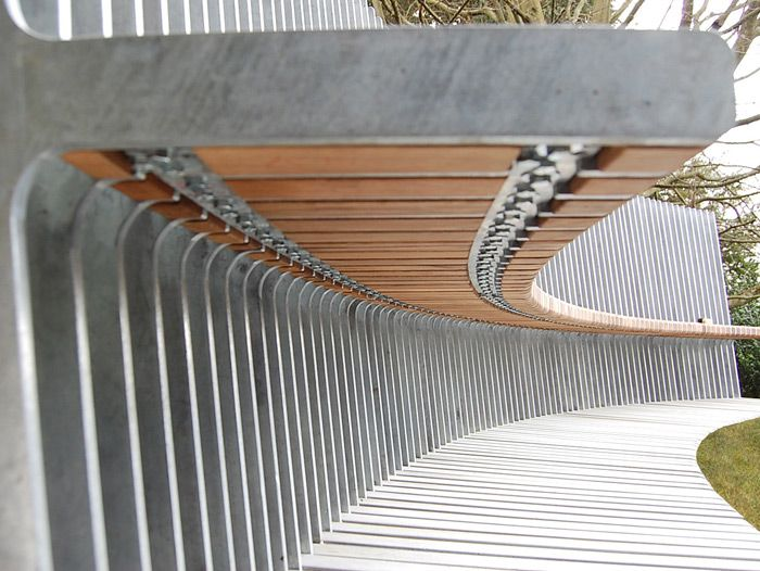 Sculptural Bench For Chatsworth House. Corin Mellor 2007. #design  #galvanized #publicseating