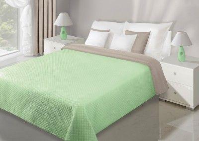 Zeleno-béžový prehoz Filip je dostupný v 5 rozmeroch: 70x150, 170x210, 200x220, 220x240 alebo 230x260 cm.