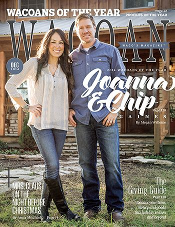 Chip and Joanna Gaines on the cover of Wacoan magazine