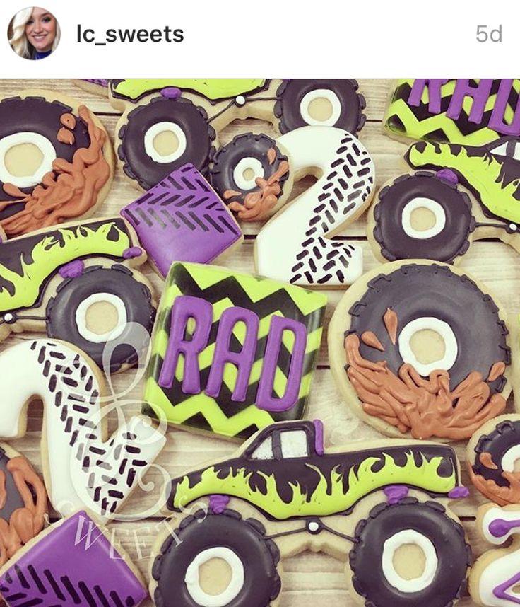 Monster truck tire cookies