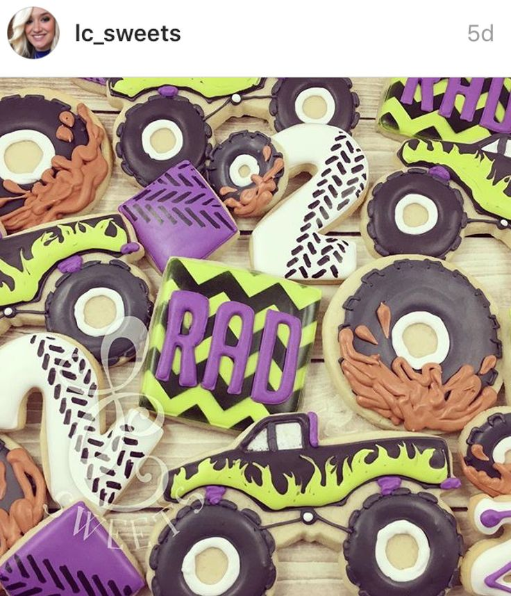 Monster truck tire cookies