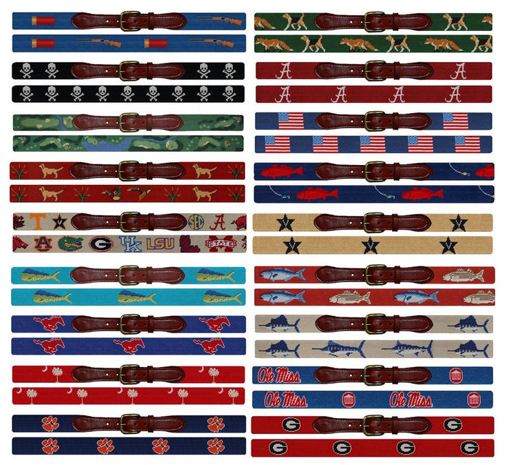 Smathers & Branson X Red Clay Soul Needlepoint Belt Giveaway