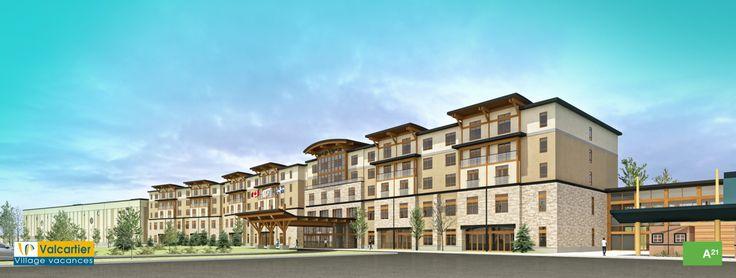 Village Vacances Valcartier - Construction d'un hôtel 4 étoiles et parc aquatique intérieur en décembre 2015!