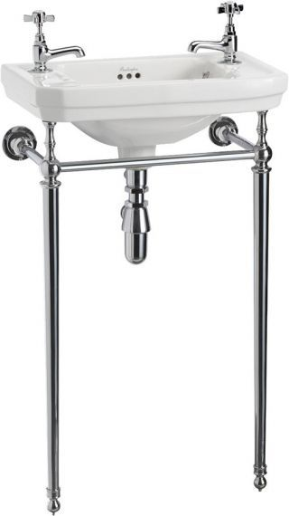Victorian Cloakroom Basin on Chrome Stand The Victorian Cloakroom Basin and StandÂ