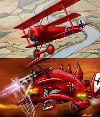 "Main/Red Baron - Television Tropes & Idioms Ten, twenty, thirty, forty, fifty or more  The bloody Red Baronwas rollin' up the score  Eighty men died trying to end that spree  Of the bloody Red Baron of Germany"".  —The Royal Guardsmen, ""Snoopyvs. the Red Baron""  Sometimes a character is so badass that they don't have just a name. They have their own nickname, one that is so badass that anyone who hears it will crap their pants in fear. If they occasionally show up, be prepared to hear this…"