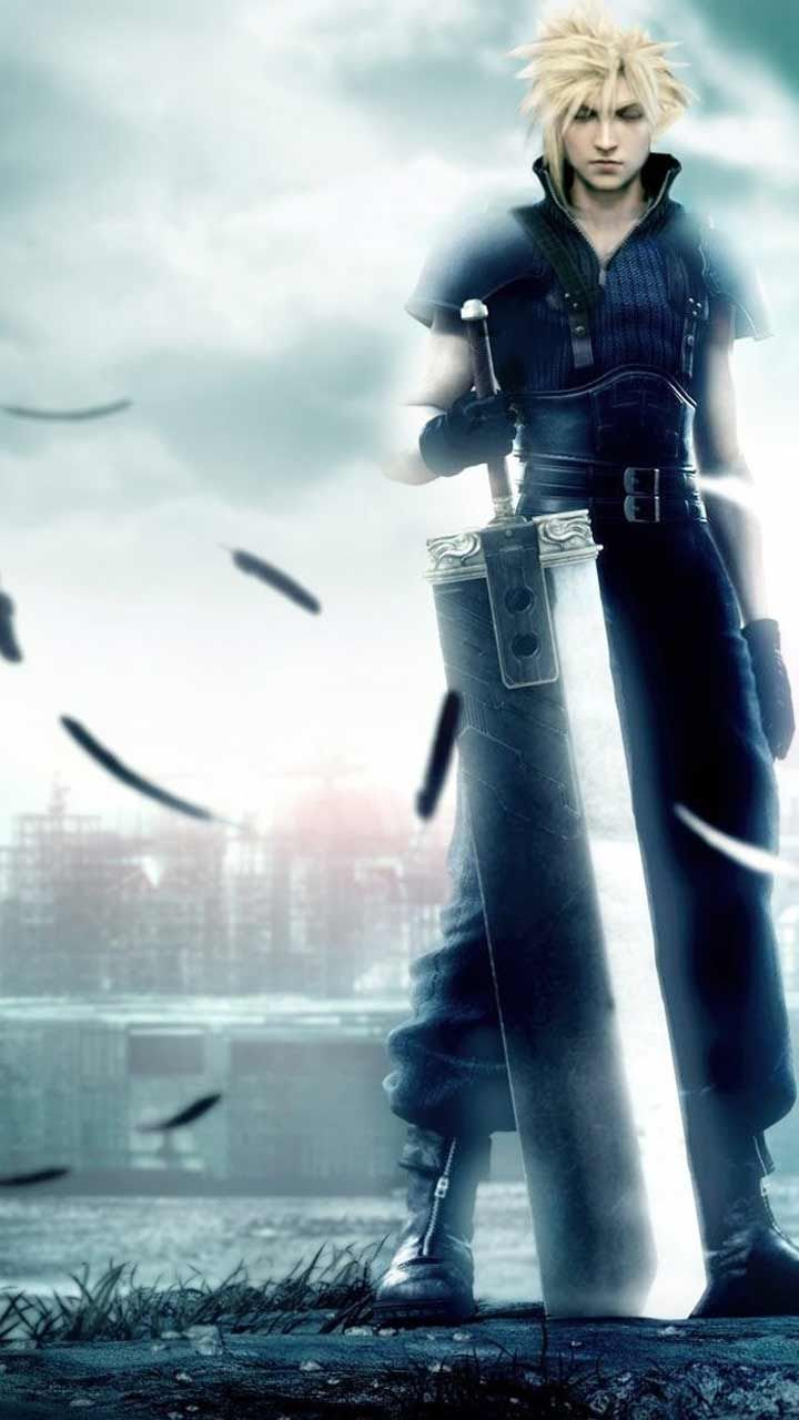 Final Fantasy 7 Remake Wallpaper Hd Phone Backgrounds Ps4 Game Art Poster Logo On Iphone Android Final Fantasy Vii Cloud Final Fantasy Cloud Final Fantasy